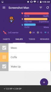 habitica gamification screenshot