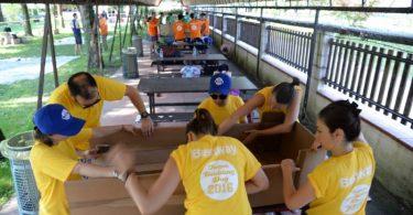 Team building carton boat bestway corp