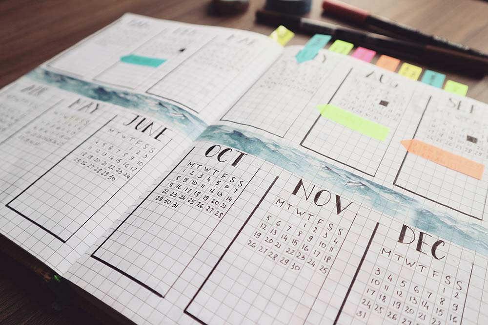 non digital planner bullet journal