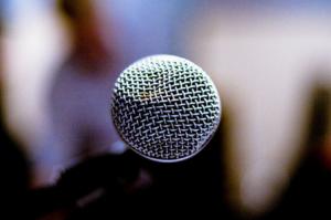 panel microfono